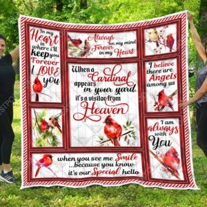 Cardinal - When A Cardinal Appears In Your Yard It's A Visitor From Heaven  –  Quilt